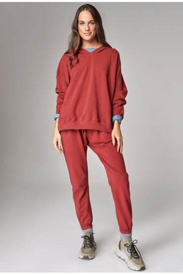 Bluza z kapturem EDEN JUMPER czerwony_1