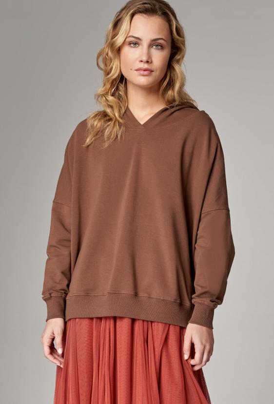 Bluza z kapturem EDEN JUMPER brązowy