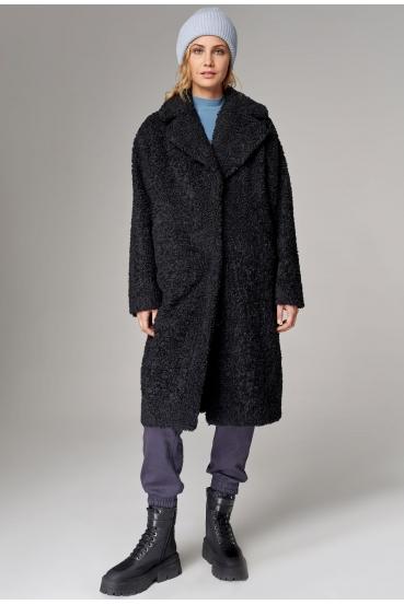 Płaszcz długi HELEN COAT LTD czarny