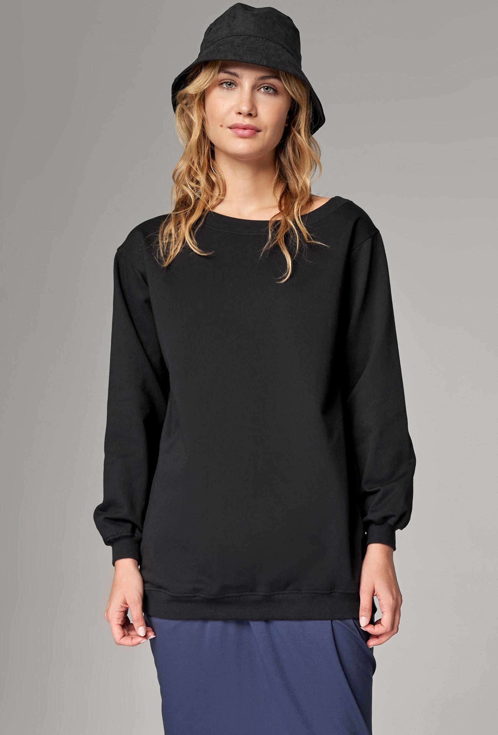 Bluza prosta INDIA BLOUSE czarna