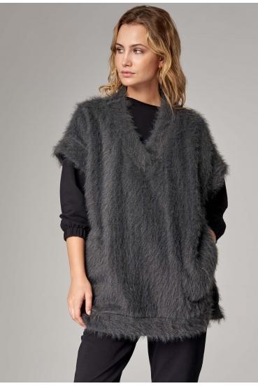 Sweter krótki ISELLA VEST LTD szary