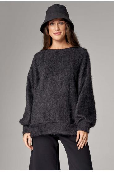 Sweter oversize INCA SWEATER LTD antracytowy