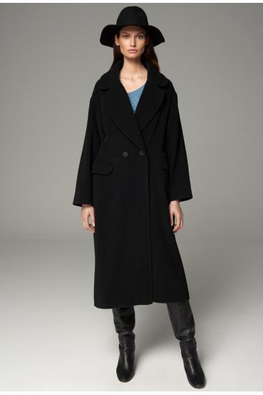 Płaszcz długi BRYCE COAT czarny