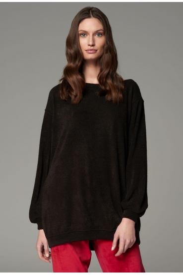 Bluza prosta INDIA BLOUSE LTD czarny